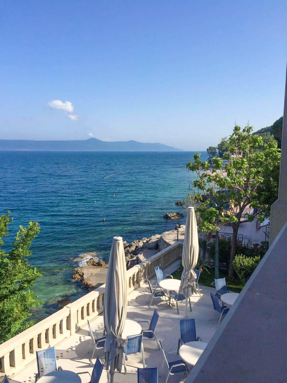 Meerblick vom Hotel